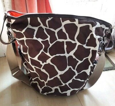 Oioi hobo giraffe print nappy baby changing bag