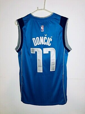 the best attitude b944b 717e2 LUKA DONCIC DALLAS Mavericks NIKE Swingman Jersey Blue 77 Authentic Sewn