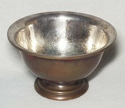 George Gebelein Boston Arts & Crafts Hand Hammered Silver Lined Copper Bowl