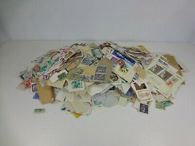 Used International Stamps Lot on and off paper HUGE PILE 480g