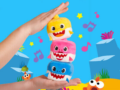 WowWee- Pinkfong Square Shark Official Doll Plush English Song - Authentic tags