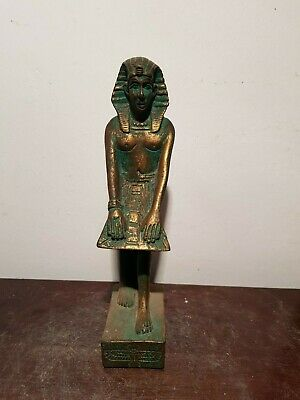 Rare Antique Ancient Egyptian statue pharaoh Tutankhamun Royal Crown1332–1323 BC