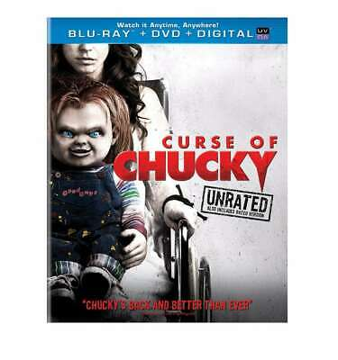 New: CURSE OF CHUCKY (Unrated Edition) Blu-ray + DVD + Digital HD