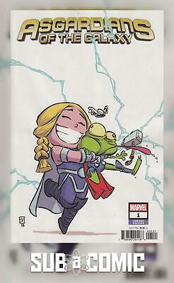ASGARDIANS OF THE GALAXY #1 YOUNG VARIANT (MARVEL 2018 1st Print) COMIC