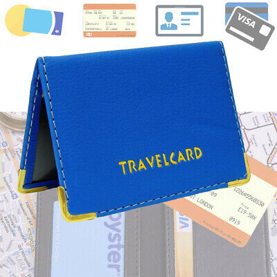 Genuine Oyster Travel Card Bus Pass Rail Card Holder Wallet Cover Case Slim UK