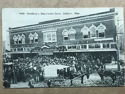 Gulfport Miss Mississippi Antique Postcard Great Southern Hotel