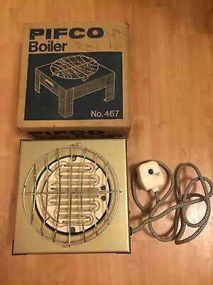 Vintage PIFCO Model No. 467 Electric Single Boiling Ring Retro Boxed Kitchenalia