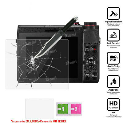 9H Tempered Glass Screen Protector for Canon Powershot G7x G7x Mark II G9X G5X