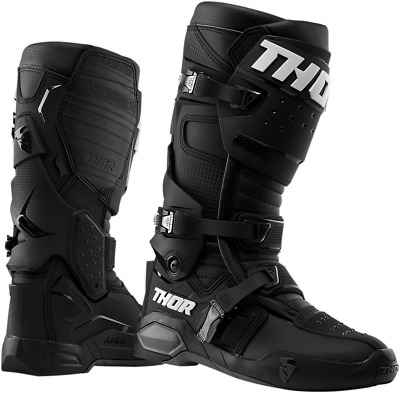 THOR MX Radial Boots Black Off-road ATV BMX MTB Protection All Sizes