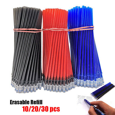 Blue Black Red Signature Neutral Ink Roller Ball Erasable Pen Refill Gel Pen