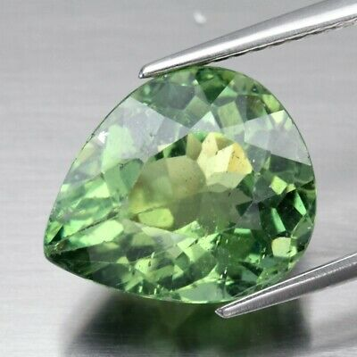 4.83ct 11.8x10mm Pear Natural Unheated Green Apatite, Brazil