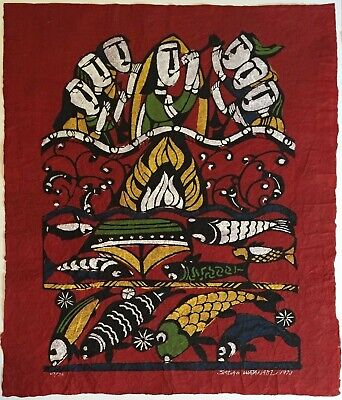 "Superb, Sadao Watanabe Original Large Color Stencil Print- 23"" X 27"" Signed.1973"