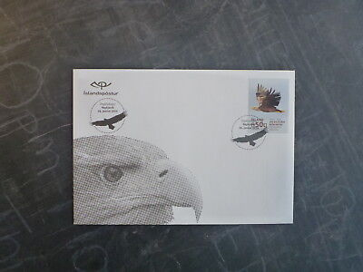2014 Iceland Birds- White Tailed Eagle Fdc First Day Cover
