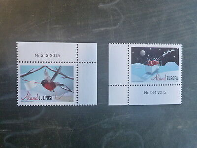 2015 Aland, Finland Christmas Set 2 Mint Stamps Mnh