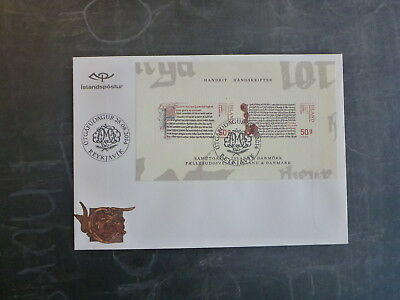 2014 Iceland-Denmark Joint Issue Stamp Mini Sheet Fdc First Day Cover