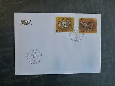 1995 Iceland Birds Set 2 Stamps Fdc First Day Cover