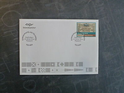 2014 ICELAND CENTENARY OF ICELAND STEAMSHIP Co FDC FIRST DAY COVER