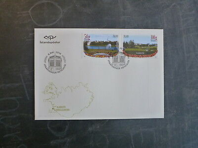 2014 Iceland Parks Set 2 Stamps Fdc First Day Cover