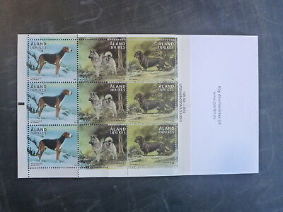 2015 Aland, Finland Hunting Dogs 9 Stamp Booklet Mint Mnh
