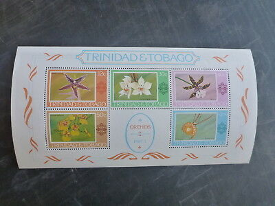 1978 Trinidad Tobago Orchids 5 Stamp Mini Sheet Mmnh