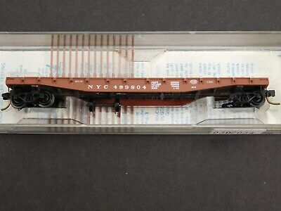 N Scale Kadee Micro-Trains 45040 NYC New York Central 50' Flat Car #4499804 RTR