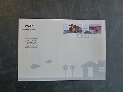2015 Iceland Europa Old Toys Truck & Ducks Set 2 Stamps Fdc First Day Cover