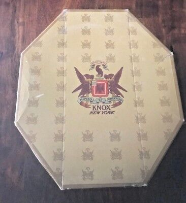Vintage KNOX NEW YORK 8 Sided Octagonal Hat Box