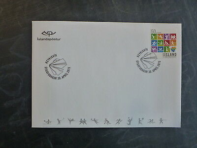 2015 Iceland Games Of The Small States Fdc First Day Cover