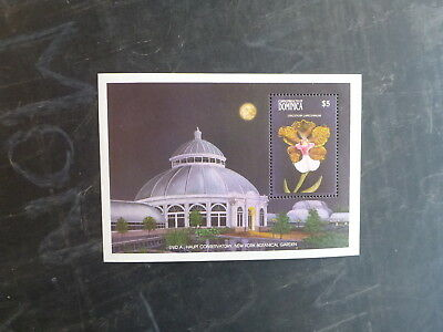 1989 Dominica Orchids Stamp Mini Sheet Mint Mnh