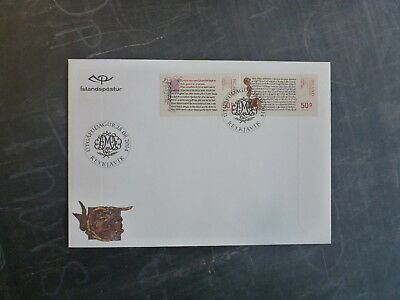 2014 Iceland-Denmark Joint Issue Set 2 Stamps Fdc First Day Cover