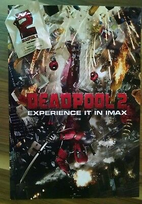 """DEADPOOL 2 - DESK BUDDY & Official Movie Poster 13"""" x 19"""" PREMIERE NIGHT IMAX"""