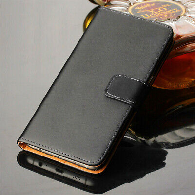 Genuine Leather Flip Wallet Stnad Case Cover For Samsung Galaxy S10 Plus S10E S9