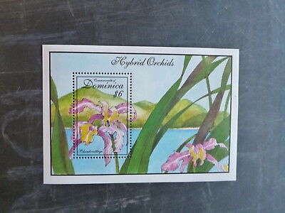 1994 Dominica Orchids Stamp Mini Sheet Mnh
