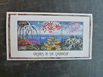 1997 Dominica Orchids Of The Caribbean 6 Stamp Sheetlet Mnh
