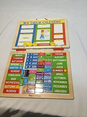 Melissa Doug My First Daily Magnetic Calendar Toy Kids Play Game