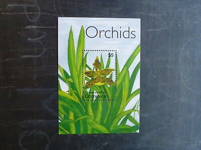 2007 Dominica Orchids Stamp Mini Sheet Mnh
