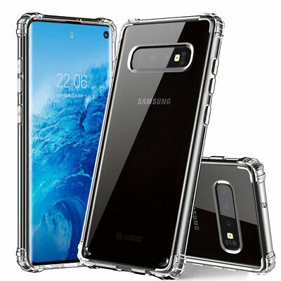 For Samsung Galaxy S10 Plus S10E Shockproof Bumper Silicone Clear TPU Case Cover