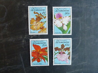 1994 Dominica Orchid Set Of 4 Mint Stamps Mnh