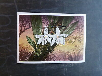 1997 Dominica Orchids Stamp Mini Sheet Mnh