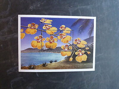 1997 Dominica Orchids Of The Caribbean Stamp Mini Sheet Mnh