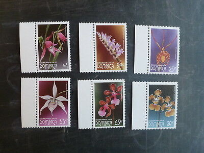 1997 Dominica Orchids Set 6 Mint Stamps Mnh