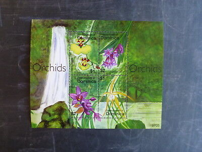 2007 Dominica Orchids 4 Stamp Mini Sheet Mnh