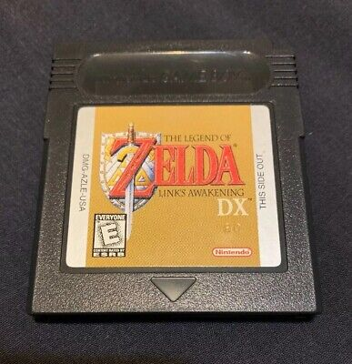 The Legend of Zelda Link's Awakening DX Game Boy GBC with Extra Game and Cover
