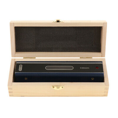 Precision Level Bar Leveler, High Accuracy 0.02mm with Wooden Case 150-300mm