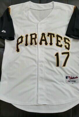 Nice! Mens Majestic Authentic AUSTIN MEADOWS Pittsburgh PIRATES MLB Jersey M