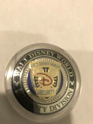 Disney Security Golden Mickey Light Blue Version Very Very Rare Challenge Coin