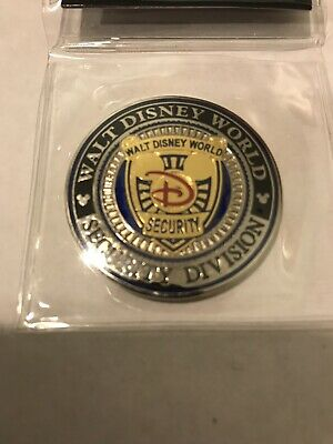 Disney Security Golden Mickey Version Rare Challenge Coin