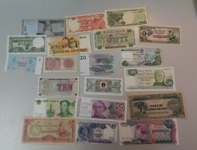 World Banknotes - Bulk Lot of 20 World Banknote Assortment of Notes: Set # 6
