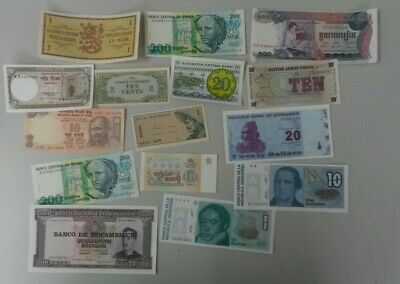 World Banknotes - Bulk Lot of 15 World Banknote Assortment of Notes: Set # 8
