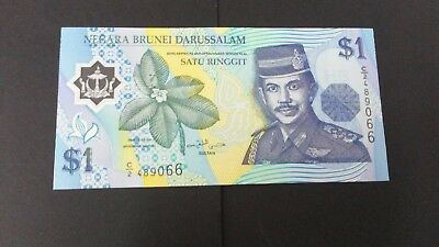 World Banknotes: Brunei One Ringgit Banknote Uncirculated Pick # 22a